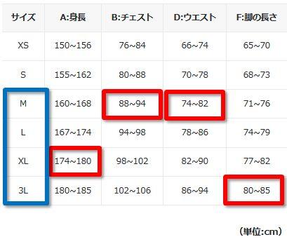 https://www.pearlizumi.co.jp/sizelist#tops
