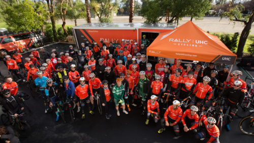 Rally UHC Cycling sets aside one day at camp to invite friends and partners of the team to tag along for an easy ride on Mulholland Highway.