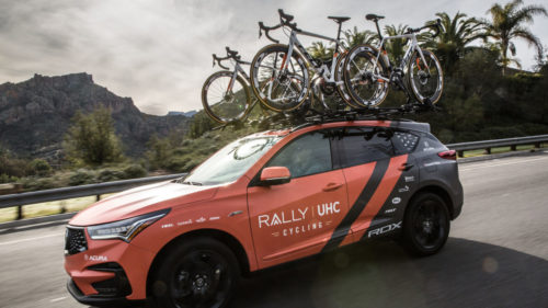 Rally UHC Cycling will continue to drive the Acura RDX in 2019, and now have six copies of the performace SUV.