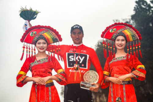 Guilin - China - wielrennen - cycling - cyclisme - radsport - Pascal ACKERMANN (Germany / Team Bora - hansgrohe)  pictured during stage 6 of the Tour of Guangxi from Guilin to Guilin (169 KM) - photo LB/RB/Cor Vos ゥ 2018