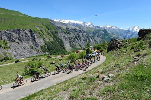 10 June 2017 69th Criterium du Dauphine Stage 07 : Aosta - Alpe d'Huez Peloton