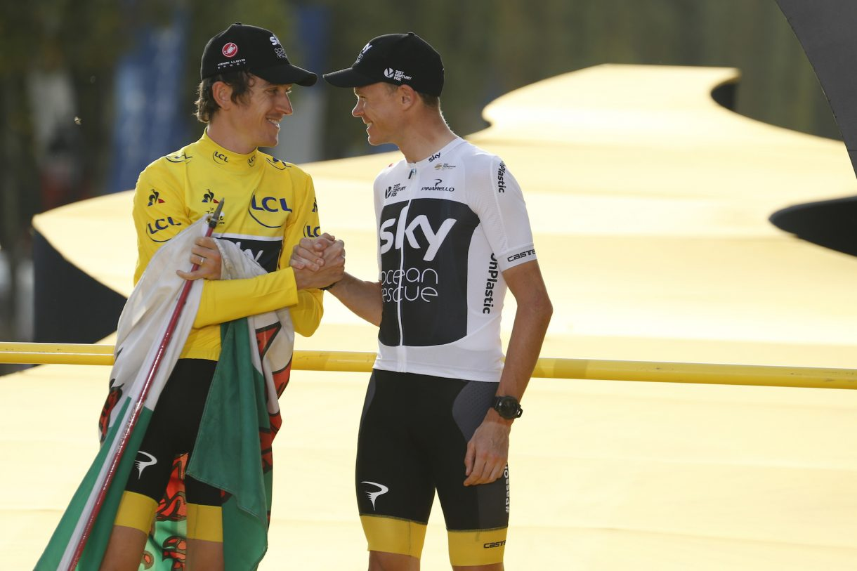 https://www.cyclingweekly.com/news/latest-news/geraint-thomas-chris-froome-share-thoughts-ineos-takes-team-sky-421973