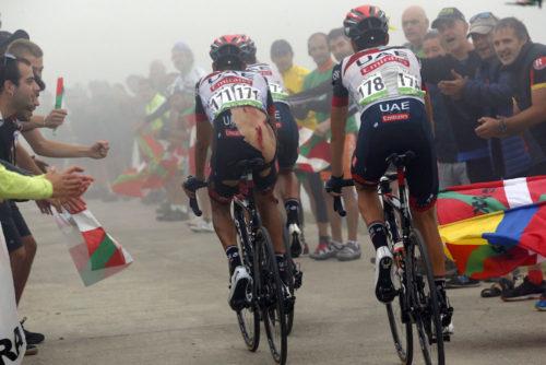 12 September 2018 73rd Vuelta a Espana Stage 17 : Getxo - Balcon de Bizkaia ARU Fabio (ITA) UAE Team Emirates, at Balcon de Bizkaia Photo : Yuzuru SUNADA