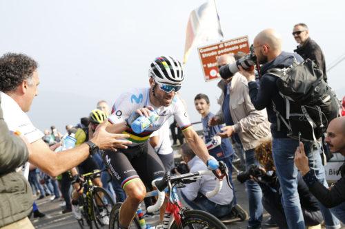 13 October 2018 112th Giro di Lombardia VALVERDE Alejandro (ESP) Movistar, at Muro di Sormano Photo : Yuzuru SUNADA